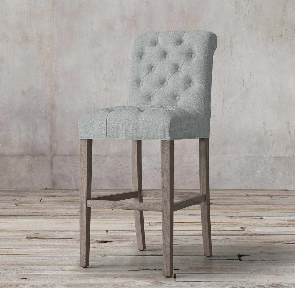 GORGEOUS LARISA ROLL-BACK FABRIC BARSTOOL BY TOLICA