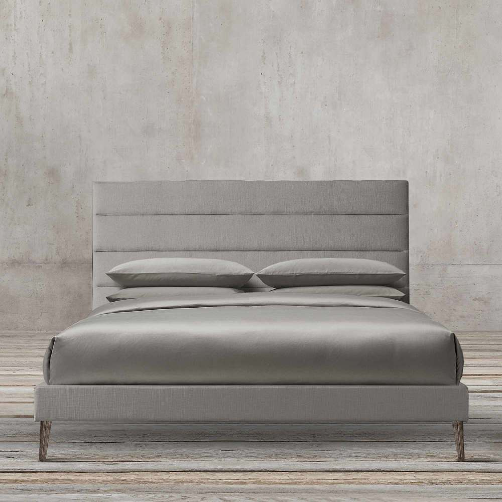MODERN RONICA 160CM PANEL FABRIC PLATFORM BED BY TOLICA