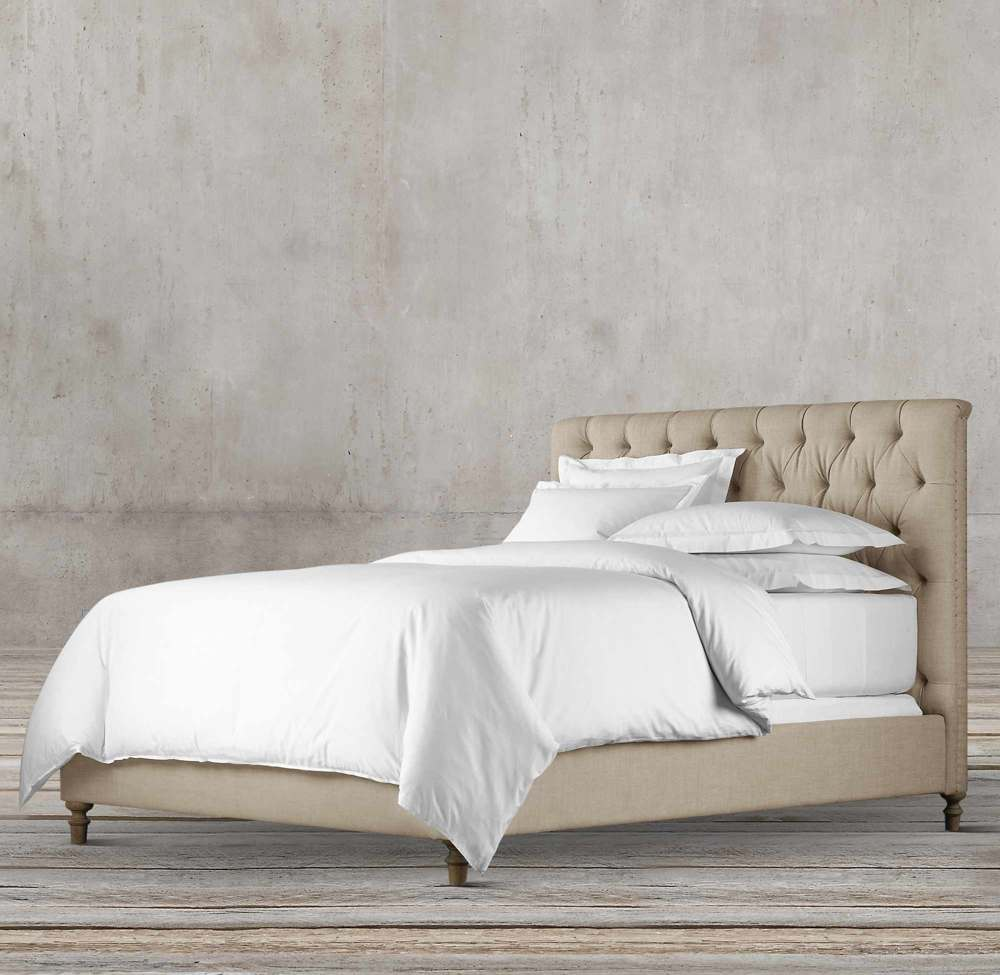 LARISA CHESTERFIELD 120CM FABRIC PANEL BED BY TOLICA