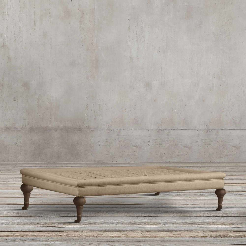 MID CENTURY FABRIC VERTA SQUARE COFFEE TABLE BY TOLICA
