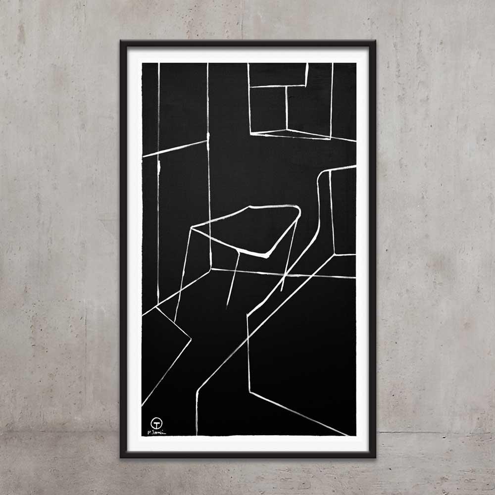 تابلو نقاشی اتاق خاموش 1 تولیکا
