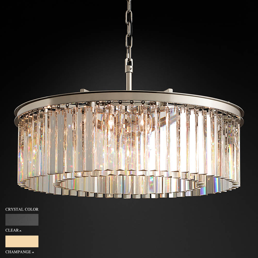 BARBARA TWO RING CEILING ROUND CHANDELIER