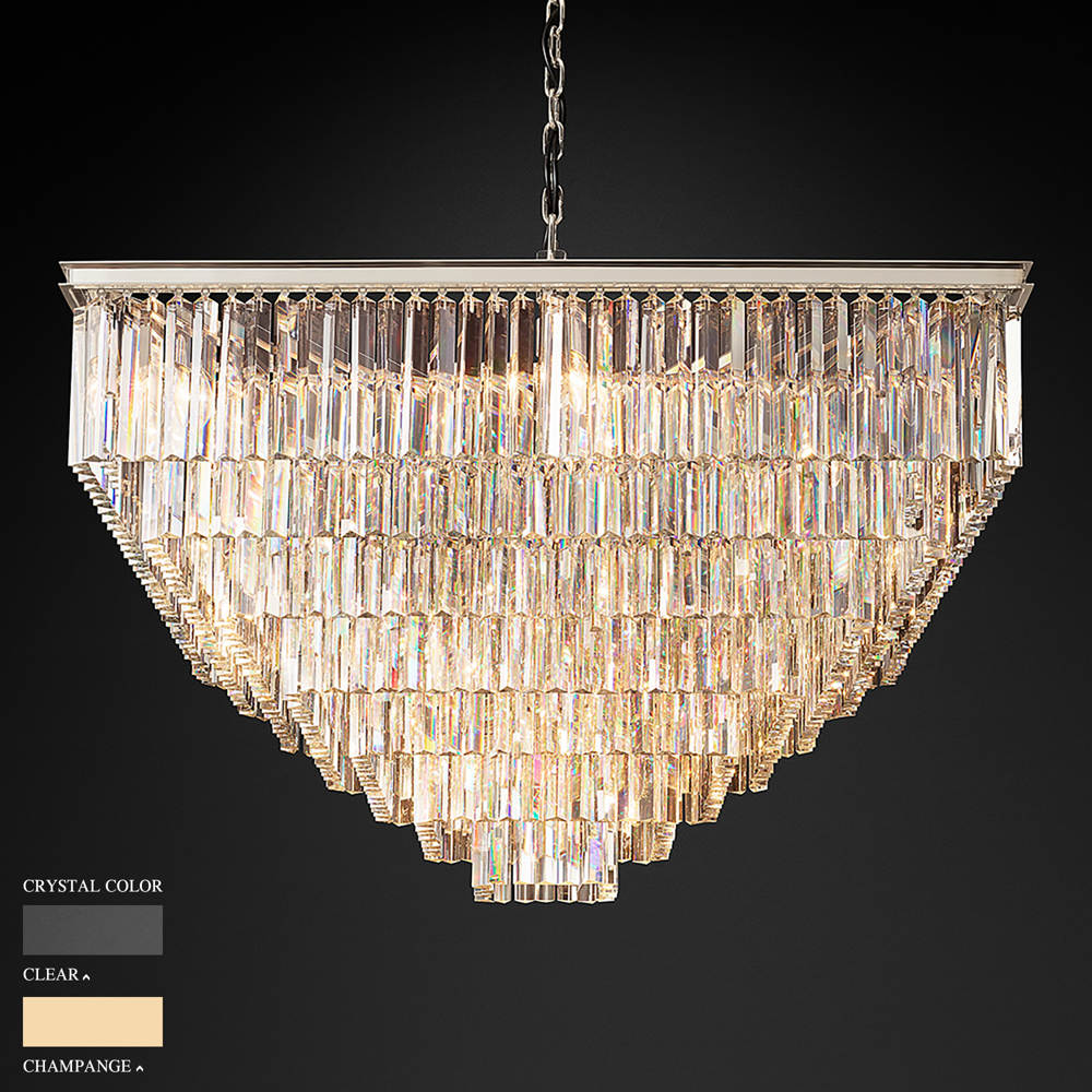 BARBARA SEVEN STOREY SQUARE CHANDELIER BY TOLICA