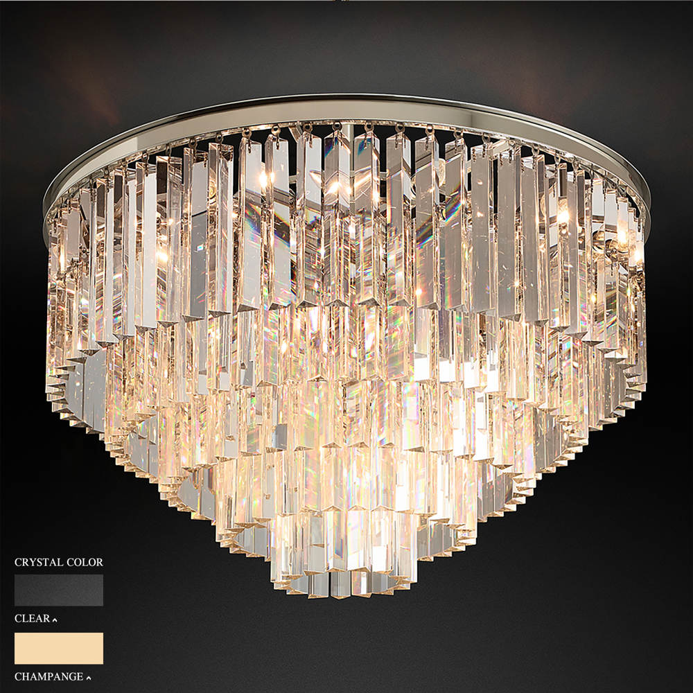 BARBARA FIVE RING CIRCLE CHANDELIER BY TOLICA