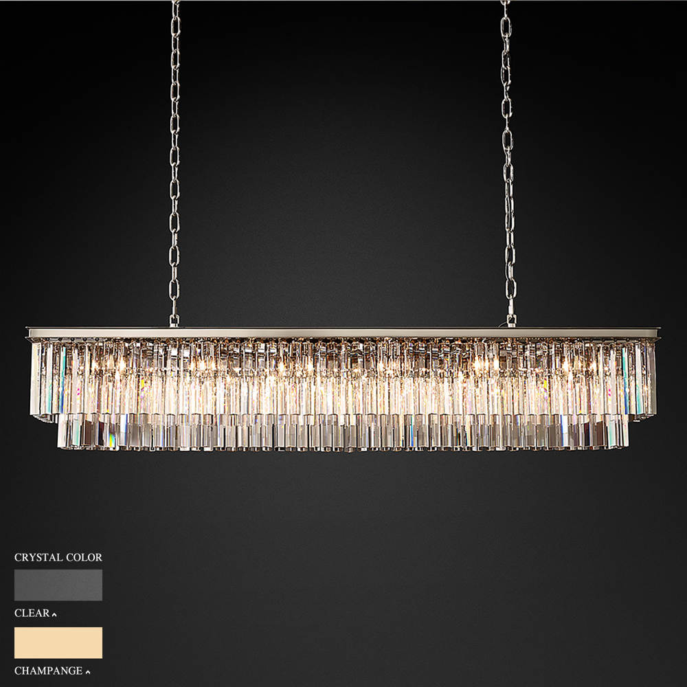 BARBARA TWO STOREY RECTANGULAR CHANDELIER BY TOLICA