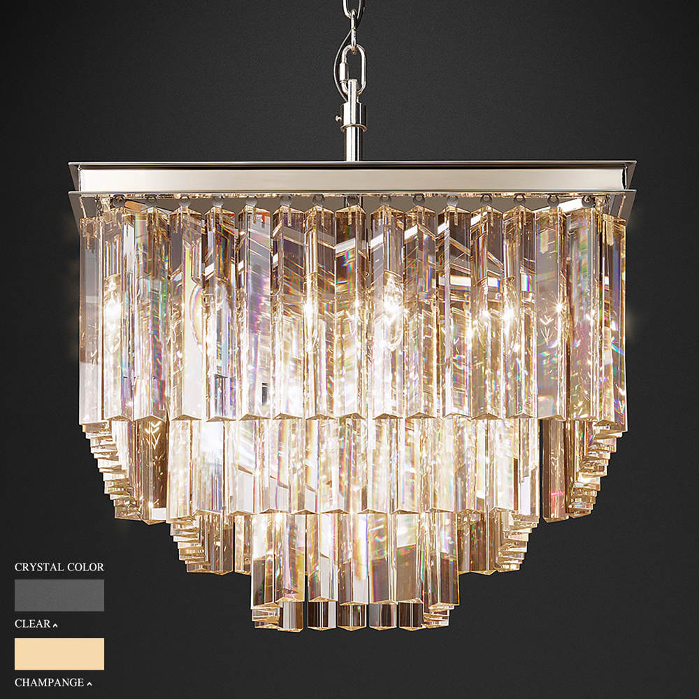 BARBARA THREE STOREY SQUARE CHANDELIER BY TOLICA