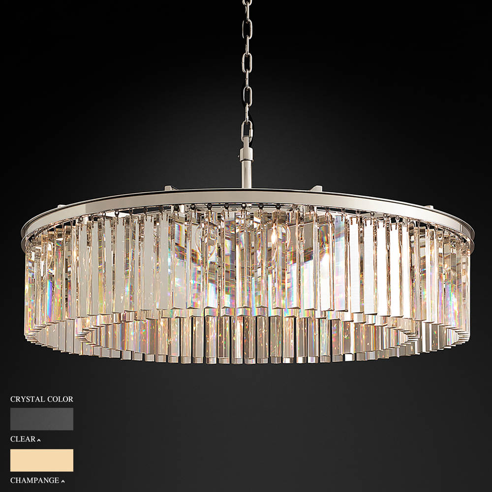 BARBARA TWO RING CEILING ROUND CHANDELIER BY TOLICA