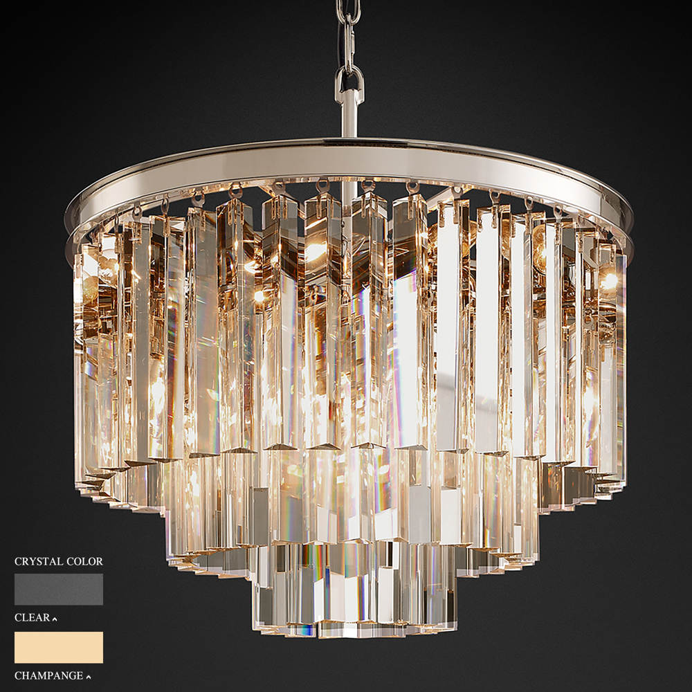BARBARA THREE RING CIRCLE CHANDELIER BY TOLICA