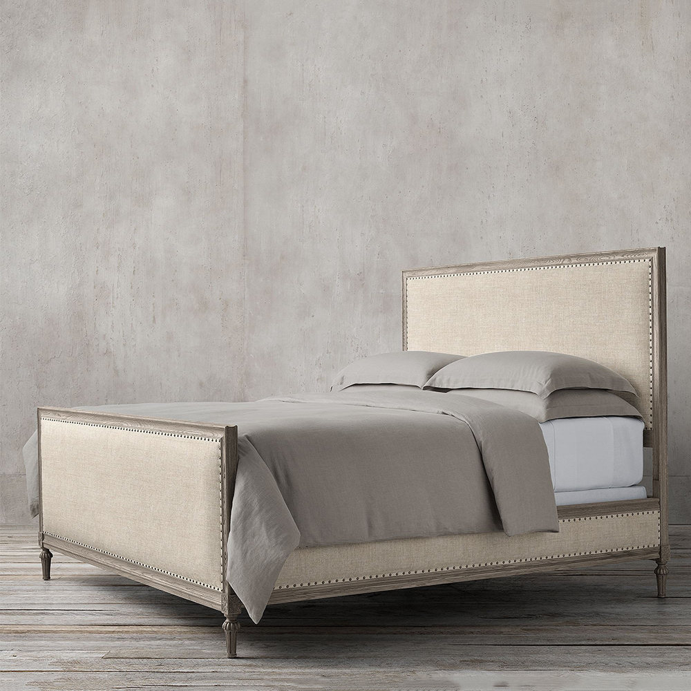 تخت خواب پارچه ای سایز 180 نئوکلاسیک تولیکا مدل النا