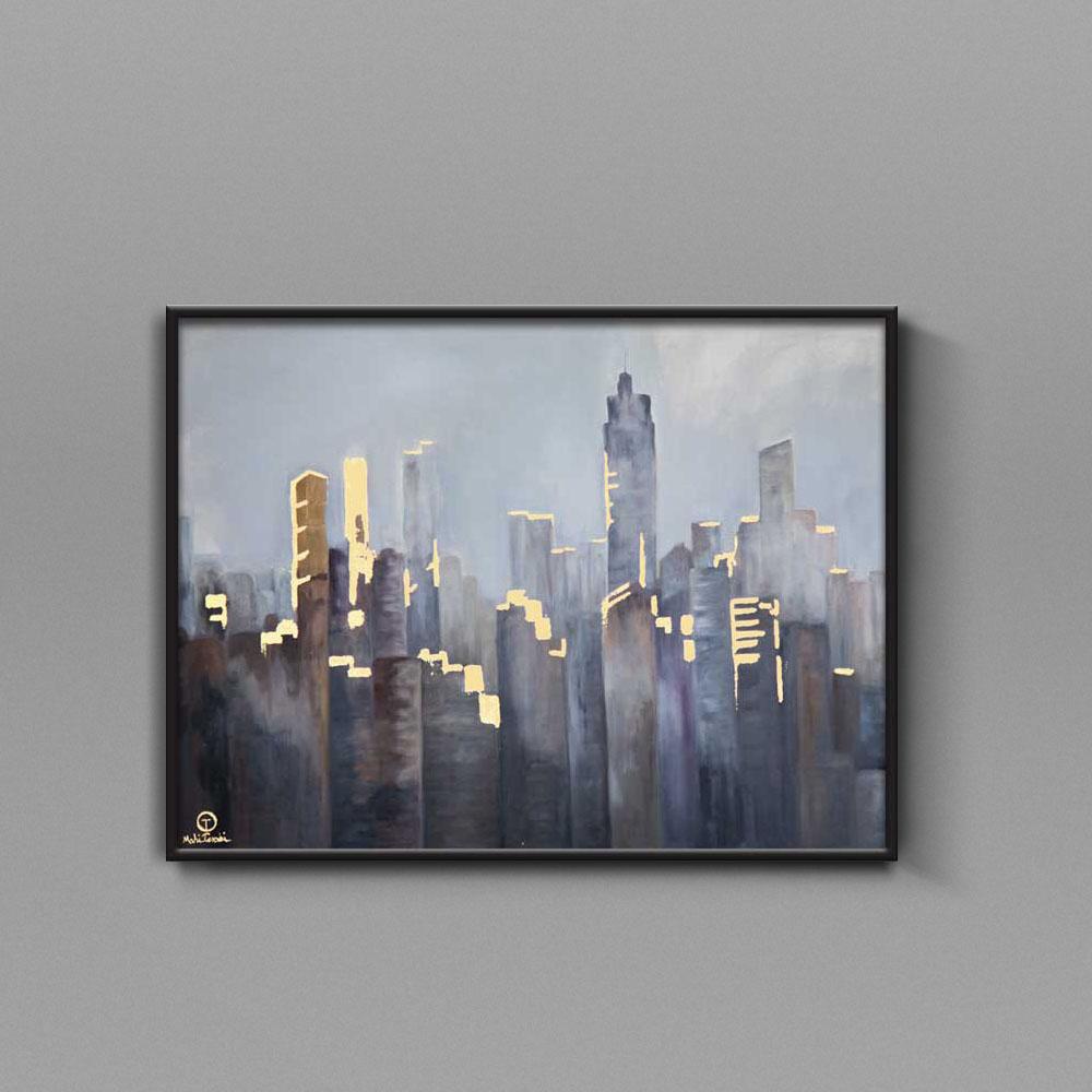 تابلو نقاشی ساختمان شهری تولیکا