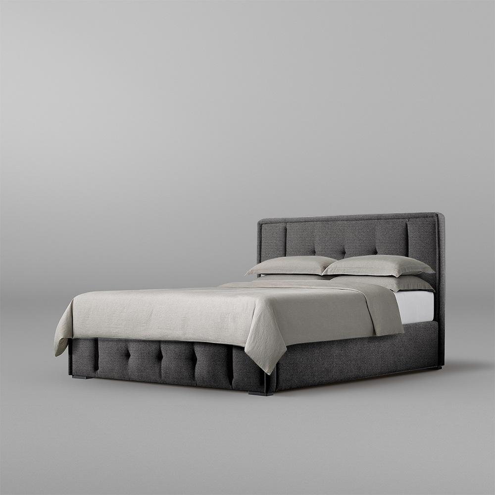 تخت خواب دو نفره سایز 160 تولیکا مدل تویا