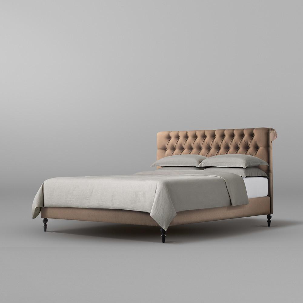 تخت خواب دو نفره سایز 180 تولیکا مدل لاریسا طرح B